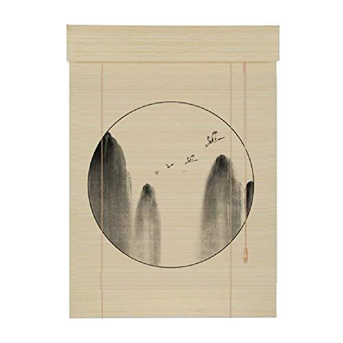 Rideau en bambou, rideau à rouleaux de rideau soulevant une fleur et un écran classique pour oiseaux LXJYMX-Bambou Rideau (MODÈLE : B, taille : 120x180)