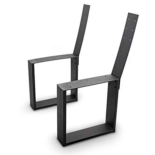 BITUXX® Design Bank Kufen Bankgestell Möbelkufen Bankfüße Eckig mit Lehne Stahl
