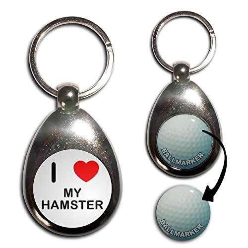BadgeBeast.co.uk I Love Heart My Hamster - Golfball-Markierung Key Ring