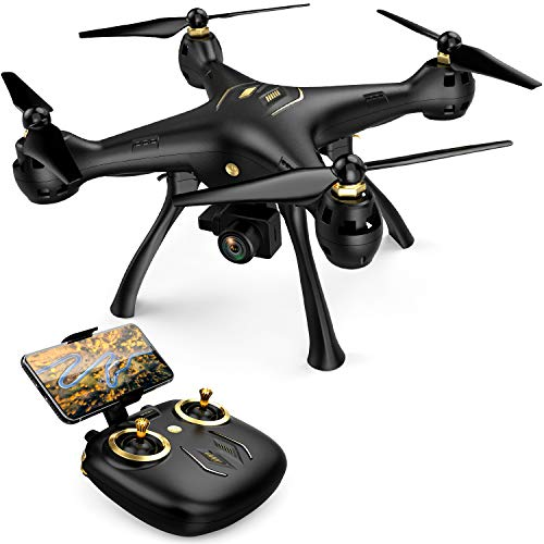 DROCON Drone with 1080P FPV HD Camera, 5G WiFi Adults RC Quadcopter, Auto Return Home Mode, Long Control Range Outdoor Drone, Easy to Use for Beginner, Black