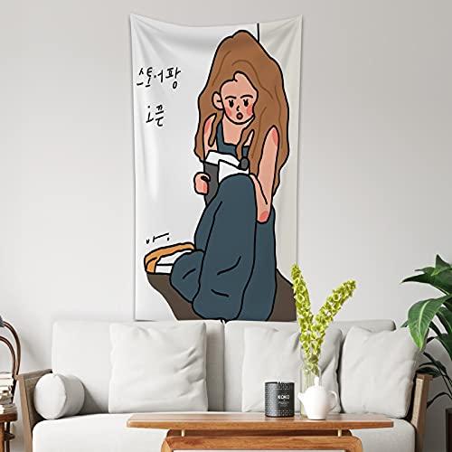 NTtie Tapiz Tela Decoración del Hogar Estera de Yoga Paño de Fondo de decoración de Pared Minimalista Lindo Femenino