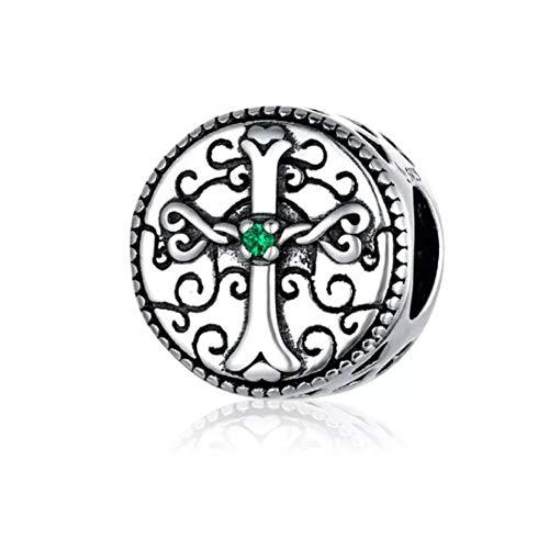 FeatherWish - Abalorio de plata de ley 925, estilo vintage, con circonita...