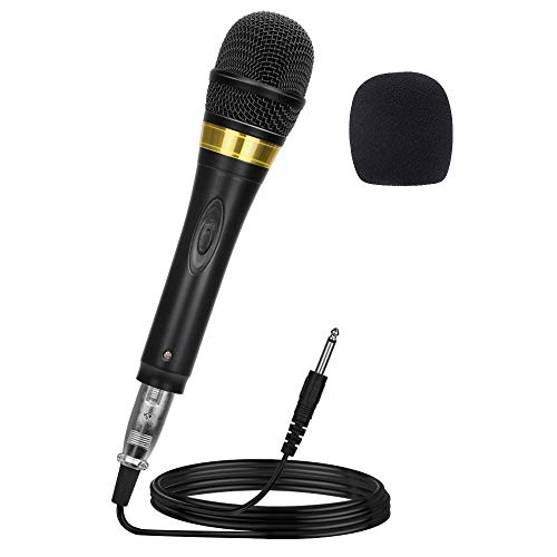 Ankuka Pro Vocal Dynamic Karaoke Microphone with XLR to 6.35mm Cable for Audio Connection, Professional Handheld Mic with 13ft Wire for Stage Karaoke Singing Recording Speech Wedding Indoor Outdoor