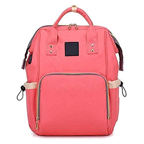 HONGYU Schreibwaren und Schultasche Multifunktions-Reise-USB-Ladeanschluss mit großer Kapazität Design Pregnant Women Handbag (Farbe : Pink)