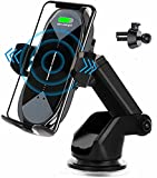 Wireless Car Charger Mount,HonShoop Auto-Clamping Qi 10W7.5W Fast Charging Car Phone Mount Air Vent Compatible with iPhone11/Pro/Max/XR/Xs Max/Xs/X/8/8Plus+Samsung S10/S10+/S9/S9+/Note and More(Black)