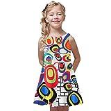 wuayi Summer Baby Mädchen Kleid Sleeveless Prinzessin Kleider drucken 4-9 Jahre