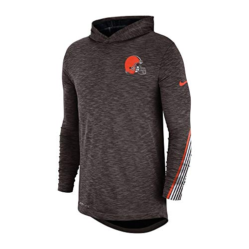 Nike NFL Cleveland Browns Sideline Scrimmage Performance - Sudadera con Capucha (Talla XL)