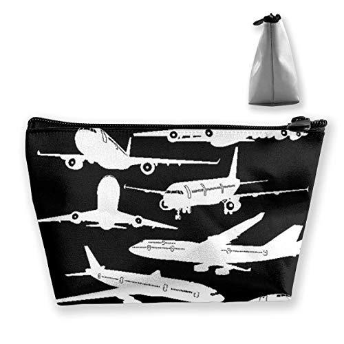 Flugzeug Boeing Trapez Make-up Beutel Damen Travel Protable Leder Kulturbeutel