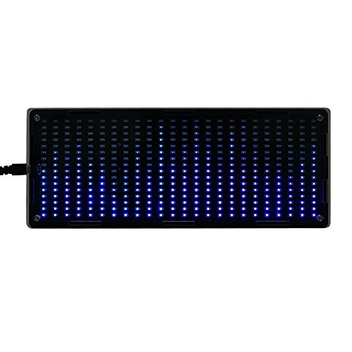 VBESTLIFE 384Pcs LED beleuchtet Digitale Audio-Musik-Spektrumanalysator-Anzeige mit Shell DIY Tools