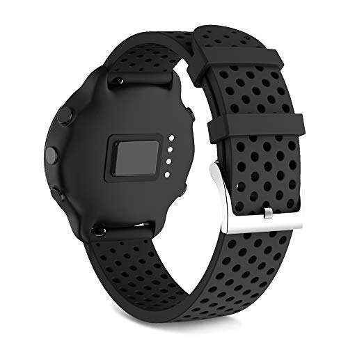 NotoCity für Garmin Vivoactive 3 Armband/Galaxy Watch Active Armband/Active 2 / Forerunner 645 / Garmin Venu/Gear Sport/Galaxy Uhr 42 mm, 20 mm Silikon-Ersatzarmband(Groß schwarz)
