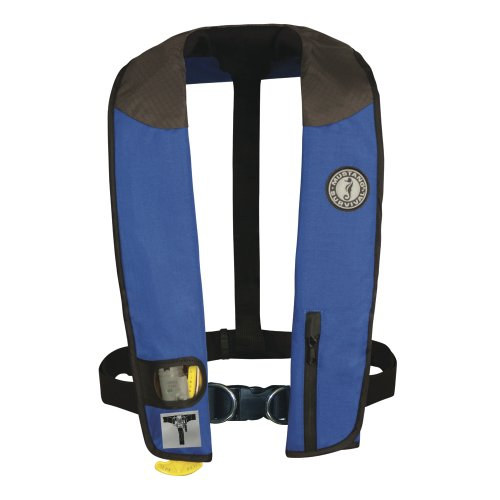 Cheapest Price! MUSTANG SURVIVAL Deluxe Manual Inflatable PFD with Harness (Royal/Carbon/Black)