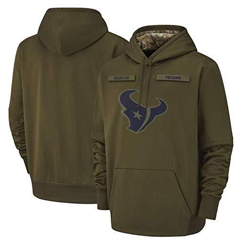 YB-DB Houston Texans NFL Rugby Green Hoodies Trui Hoody Blouse Tracksuits Lange mouwen Casual Sweatshirt Sportswear Hoodie Print Team Logo
