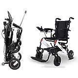 GJJSZ Silla de Ruedas eléctrica Plegable Smart Compacto Portátil Ligero Scooter Auml;Coche de Ayuda para discapacitados de Edad Avanzada 20.5 kg, Puede Conducir 15 km