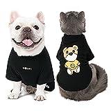 Camiseta de manga corta para perro, color negro, primavera, verano, para cachorros, pequeños, medianos, grandes, gatos, perros, con patrón de osos de diseñador, 14.99 (oso negro, 2XL)
