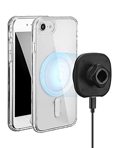 Alkoxy Magnetic Crystal Clear Case Designed for iPhone 8, Built-in Magnets Compatible with ALKOXY WXC-001 Magnetic Wireless Car Charging
