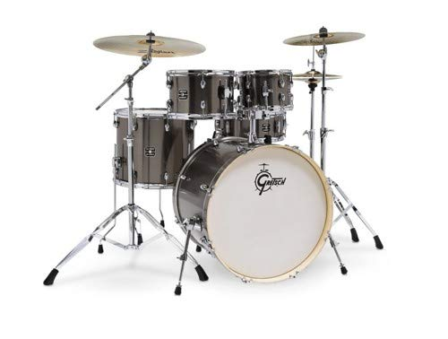 Gretsch Energy 5-Piece Drum Set w/Hardware and Zildjian Cymbals (Grey Steel)