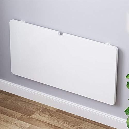 JIADUOBAO Mesa plegable de pared para lavandería, cocina, mesa de comedor, escritorio de madera, escritorio de ordenador, estante de almacenamiento blanco (tamaño: 40 x 70 cm)