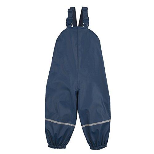 Bornino Bornino Basics Regenhose leicht gefüttert - Winddichte & Wasserabweisende Regenlatzhose - Reflektorstreifen an den Beinen & Weitenregulierung