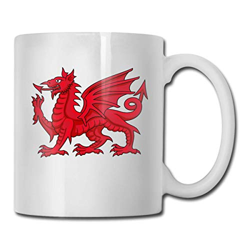 Taza de té de cerámica blanca de Dragon Best Gift Idea, divertida