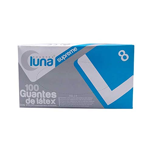 Guantes Luna Guantes En Látex con Polvo, Multicolor, Talla Unica