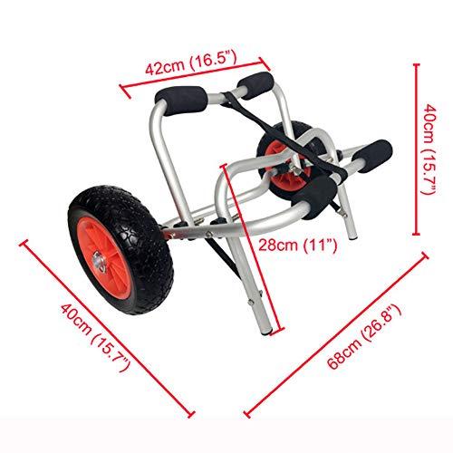 MROSW Kayak Dolly Wheel Trolley, High-End Aviation Aluminum Beach Trailer, Best for Beach Tire Transportation