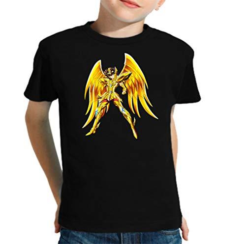 The Fan Tee Camiseta de NIÑOS Caballeros del Zodiaco Pegaso Dragon Sain Seyia Fenix 002 9-10 años