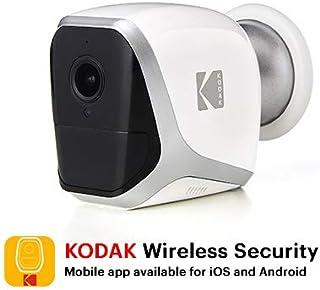 KODAK W101 Cámara de Vigilancia Full HD 1080p - Totalmente Autónoma Inalámbrica WiFi y Pilas de Larga Duración – Interior / Exterior (4x Pilas LR6 AA)