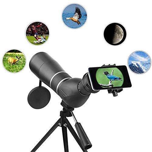 Loadfckcer 15-45x60 Monokular Teleskop, HD Handy Klein Mini Monokular Fernglas mit Adapter und Stativ,Nachtsicht & Wasserdicht Fernrohr Scope für Zoom Vogelbeobachtung Jagd Reisen im Freien 98M/8000M