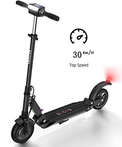 Kugoo S1 Scooter eléctrico Plegable Motor 350W Pantalla LCD 3 Modos de Velocidad 30 km/h-Negro