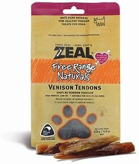 Zeal Free Range Natural Venison Tendons Dog Treats 125g