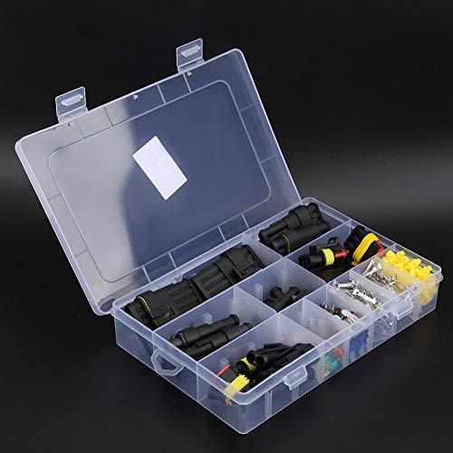 Conector de alambre eléctrico impermeable, luz de garaje del kit del conector del cable del plástico y del metal 240PCS