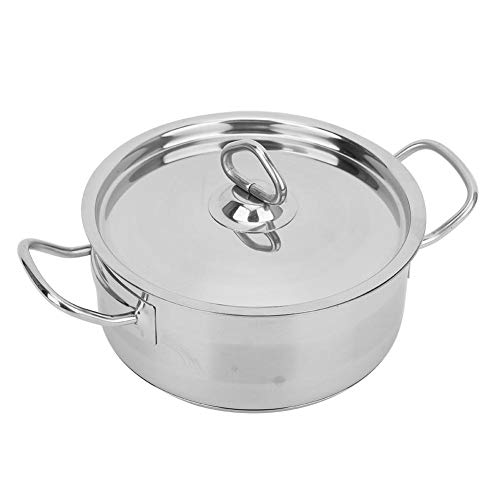 Stock Pot, Stainless Steel with Lids Dual Handle 3 Quart