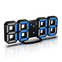 CENTOLLA 3D LED Wall Clock, 8.4 Wall Clock Digital, 3D LED Alarm Clock with 3 Adjustable Brightness Levels for Home Kitchen Office(with Cable but NOT Battery Operated)
