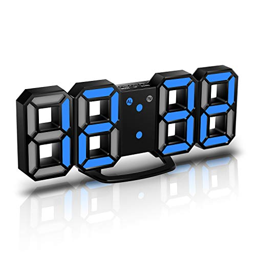 CENTOLLA Reloj Despertador Digital 3D LED, Reloj de Pared, R