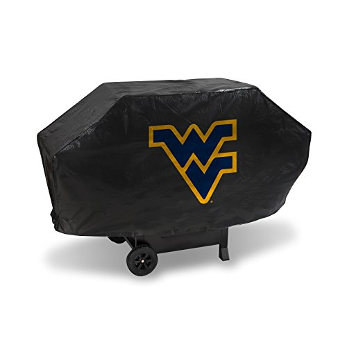 NCAA Rico Industries Vinyl Padded Deluxe Grill Cover, West Virginia Mountaineers, 68 x 21 x 35-inches