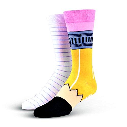 Cool Socks Pencil and Paper Men's Crew Socks