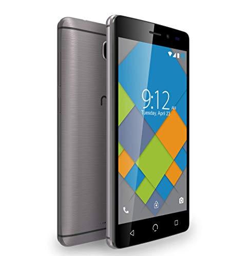 NUU Mobile A4L+ Smartphone 16GB di memoria, Dual SIM Dual Standby, 4G LTE, Android (Grigio)