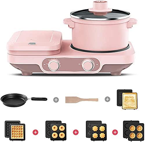 ZRB Antiadherente Sartén, Multifuncional Multifuncional Desayuno Electrónico Waffle Maker Sandwich Automático Toaster Ham Carne Parrilla, C,Sartén Saludable (Color : C)