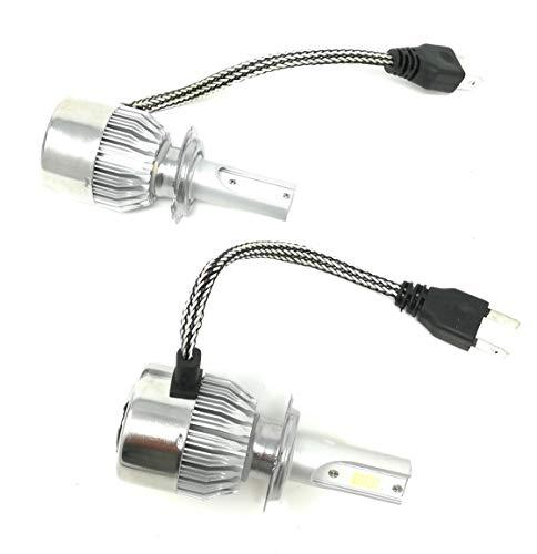 Coppia kit lampade luci LED auto moto fari COB H7 C6 7600LM 36W 6000K headlight luce bianca lampadine bulbi automobile