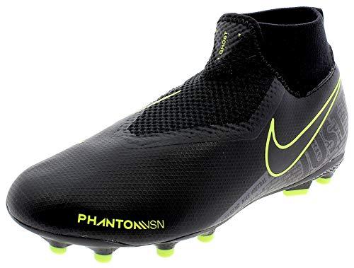 Nike Jr. Phantom Vision Academy Dynamic Fit MG, Scarpe da Calcio, Multicolore (Black/Black/Volt 7), 37.5 EU
