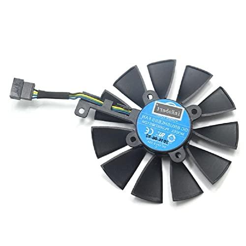 Carlote - Ventilador de repuesto para Strix GTX 1060 OC 1070 1080 GTX 1080Ti RX 480 (87 mm)