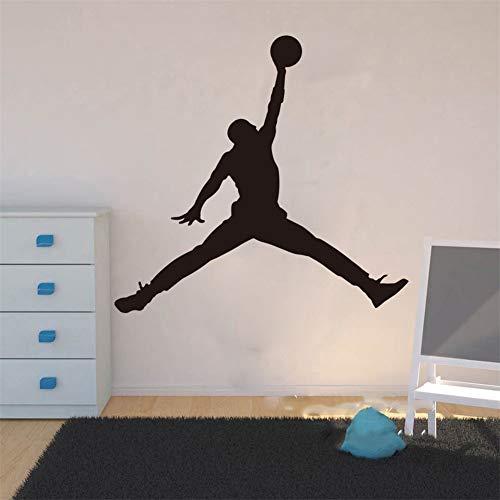 pegatina de pared etiqueta de la pared decoración Michael Jordan Chicago Bulls Sala de estar NBA Jugador de básquetbol Habitación Habitación para niños