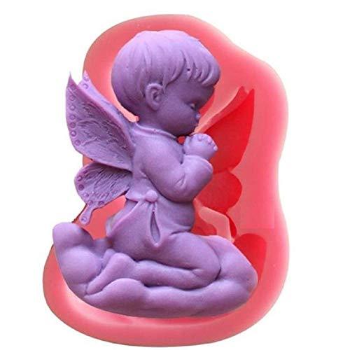 KIRALOVE Moule en Silicone en Forme d'ange - Nuage - Enfant - Savon - résine - plâtre - Bricolage - Faites - Le Vous - même - Passe - Temps - moules - Moule pour Une Utilisation Artisanale