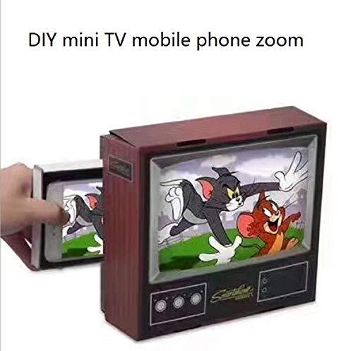 MXH Nieuwe mobiele telefoon video versterker F4 creatieve diy retro kleine TV mobiele telefoon scherm HD vergrootglas