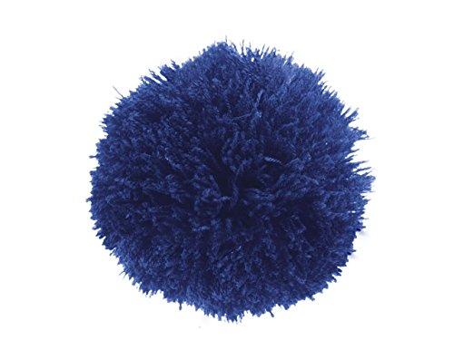 2 Bommeln/Wollbommeln/Pompons, 10cm mit einer großen Farbauswahl, Farbe:königsblau
