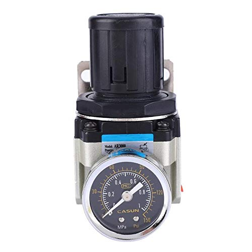 SHUGJAN Absperrventils Elektromagnetventil AR3000-02 SMC Überlauf Typ Luftdruckminderer G1 / 4-10-60 ℃ elektrisches Ventil DIY Zubehör Hardware Reparaturwerkzeuge
