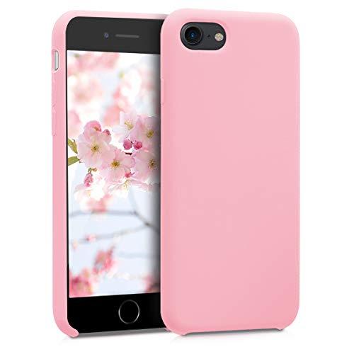 kwmobile Funda Compatible con Apple iPhone 7/8 / SE (2020) - Carcasa de TPU para móvil - Cover Trasero en Rosa Chicle