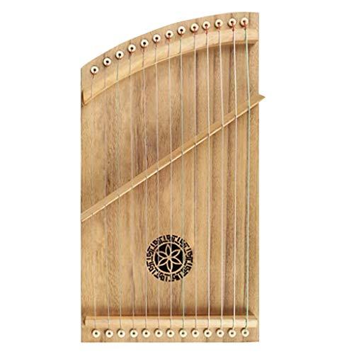 Chinese Guzheng 13 Strings tragbarer Mini-Guzheng Finger Trainer mit Voll Zubehör Rucksack Gu Zheng Geeignet for Erwachsene/Kinder/Anfänger/Professional (Size : 42.5 * 23.5 cm)
