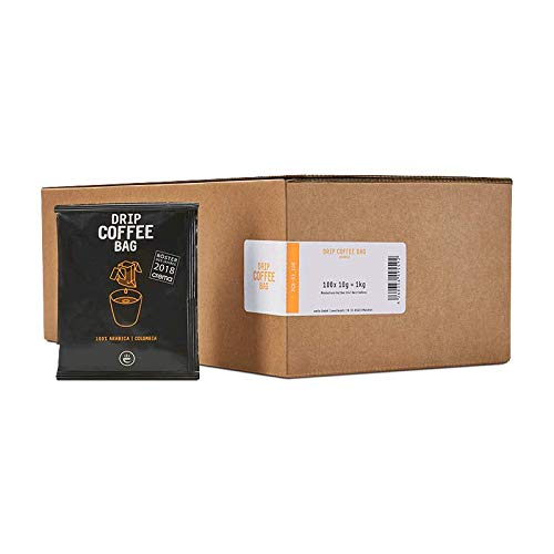 Filterkaffee - 100% Arabica Kaffee Vorratsbox - Filterbeutel mit gemahlenem Kaffee zum Selbstaufbrühen – Frisch gerösteter aroma Kaffee – Drip Coffee Bag COLOMBIA, 100 Stück