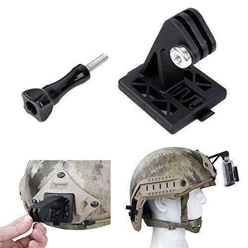 XUSUYUNCHUANG Adaptador de Montaje en el Casco Excavadora Arm NVG Casco Tan Soporte Base for GoPro héroe 7/6 / 5/4/3 + for SJCAM SJ4000 for Xiaoyi 4k cámara de la acción Accesorios (Colour : Black)